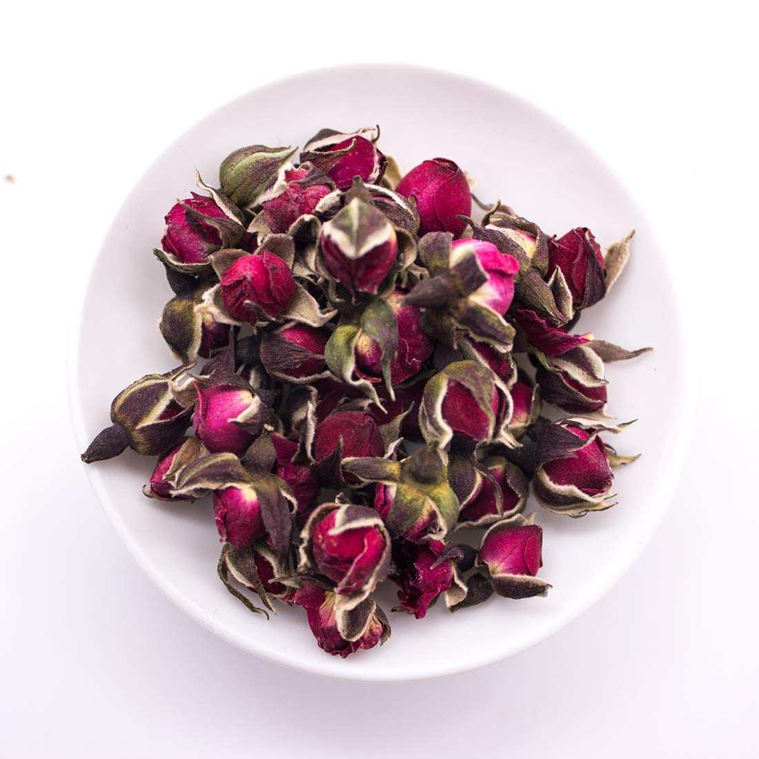 MQUPIN Organic Dried Red Rose Petal Flower Edible Buds Detox Tea 90g/3.2OZ