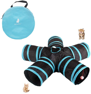 MQUPIN Cat Tunnel, 5-Way Tunnel Collapsible Extensible